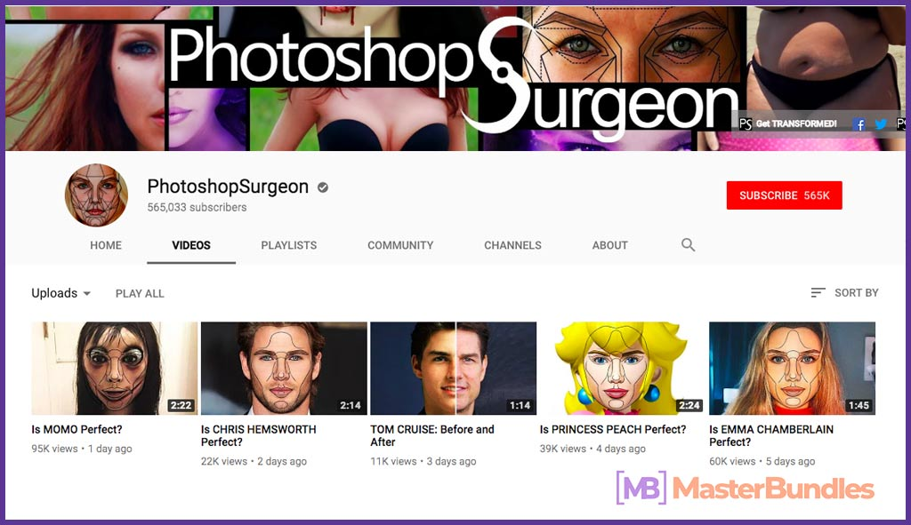 70 YouTube Channels For Learning Web Design in 2020 - photoshopsurgeon 43