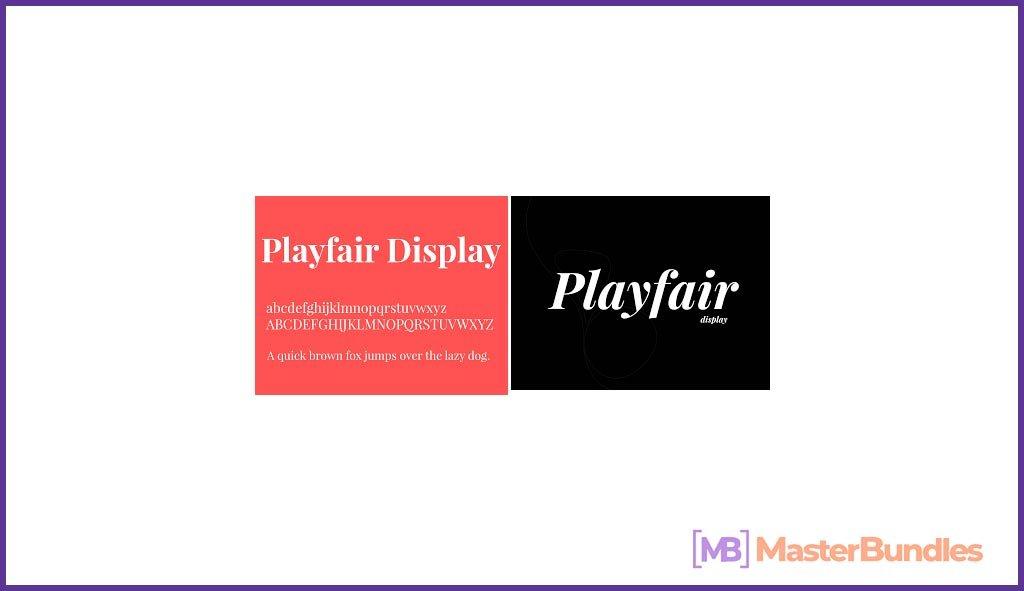 Playfair Display Urban Font