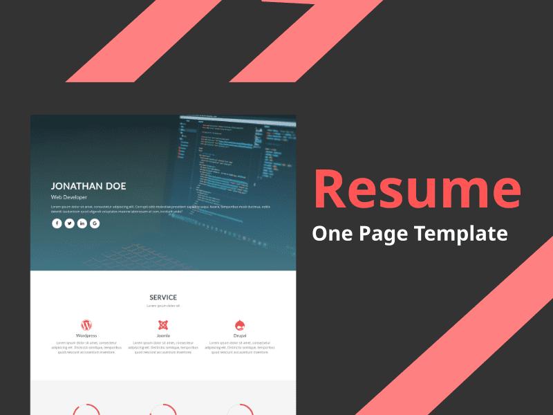 28 Premium HTML Templates Bundle - $5 - resume