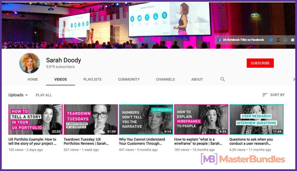 70 YouTube Channels For Learning Web Design in 2020 - sarah doody 46
