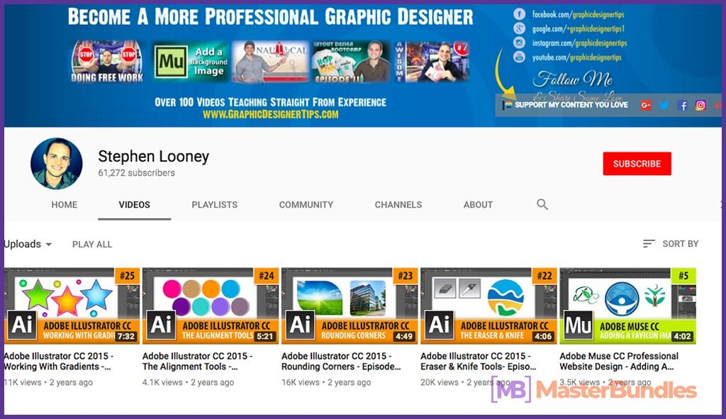 70 YouTube Channels For Learning Web Design in 2020 - stephen looney 48