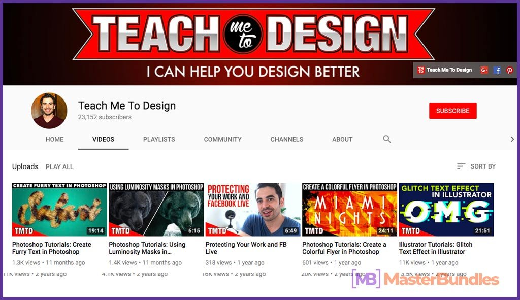 70 YouTube Channels For Learning Web Design in 2020 - teach me to design 49