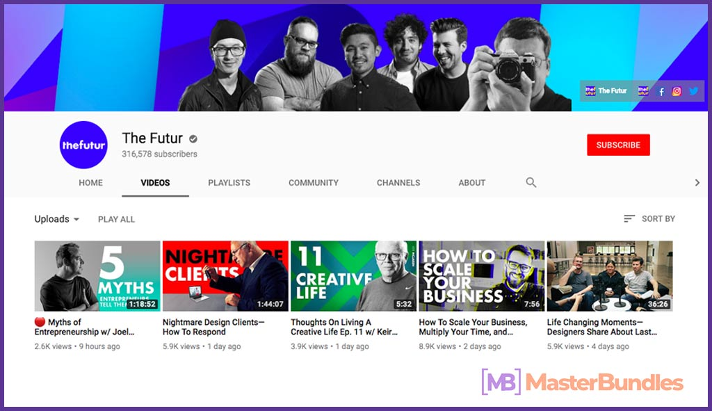70 YouTube Channels For Learning Web Design in 2020 - the futur 1