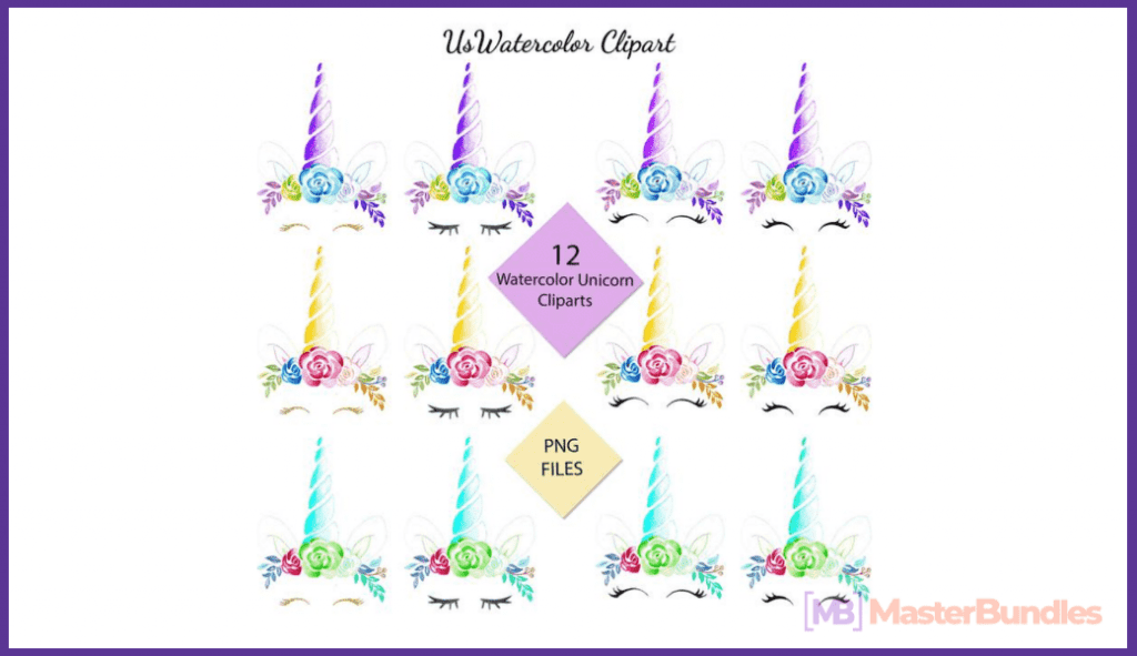 45+ Best Unicorn Clipart Elements in 2020: For those who Believe in Miracles - unicorn clipart 11