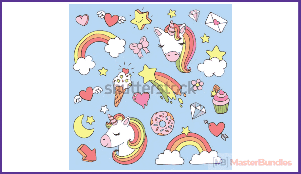 45+ Best Unicorn Clipart Elements in 2020: For those who Believe in Miracles - unicorn clipart 14