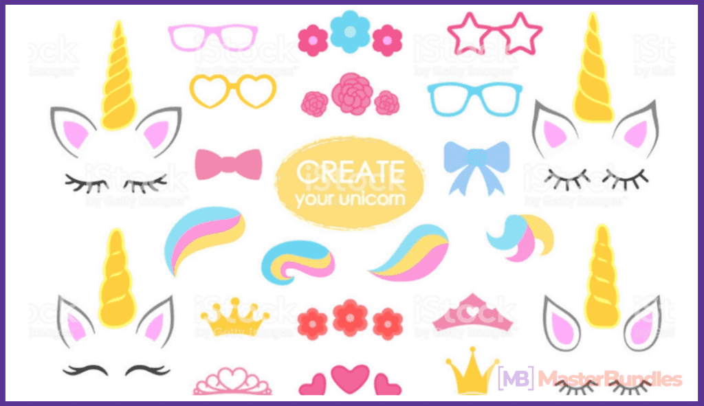45+ Best Unicorn Clipart Elements in 2020: For those who Believe in Miracles - unicorn clipart 17