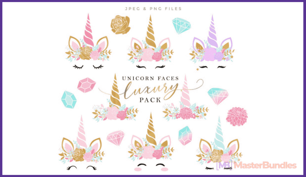 45+ Best Unicorn Clipart Elements in 2020: For those who Believe in Miracles - unicorn clipart 25