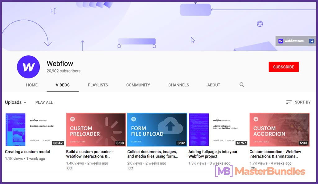 70 YouTube Channels For Learning Web Design in 2020 - webflow 50