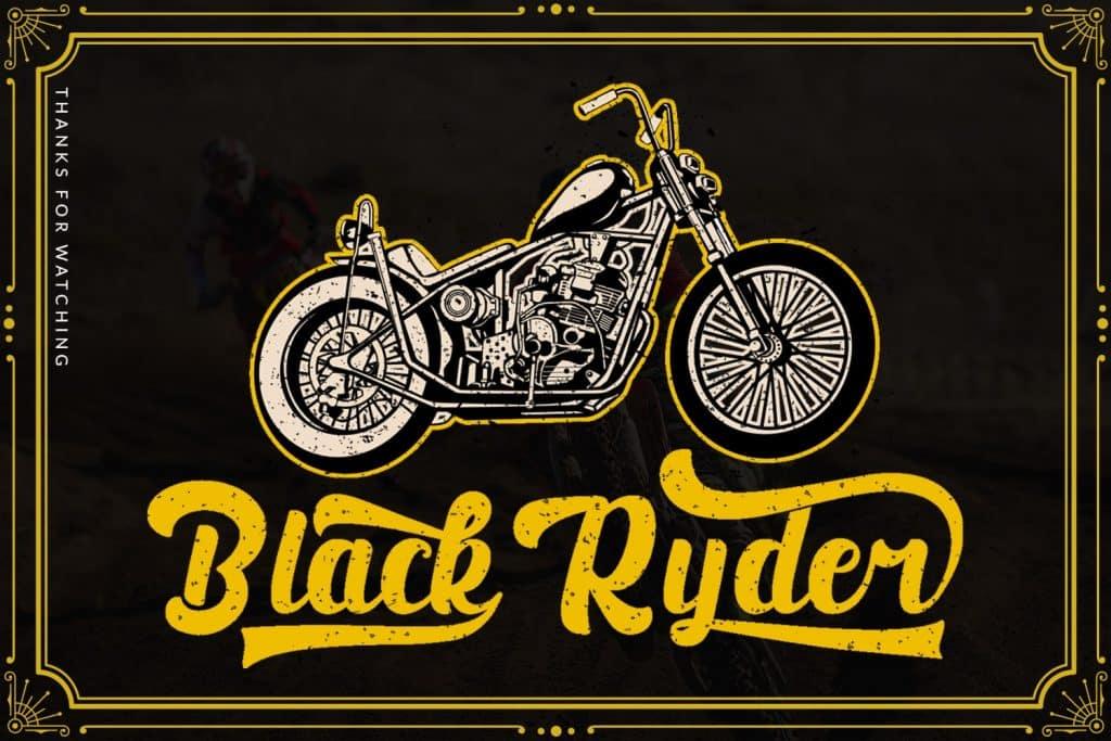 Black Ryder - Bold Script Font - $3 - 11 min