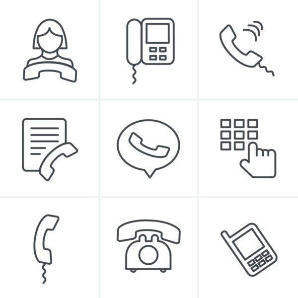 Mega Icons Bundle: 2000 icons - 19970478 line icons style phone icons