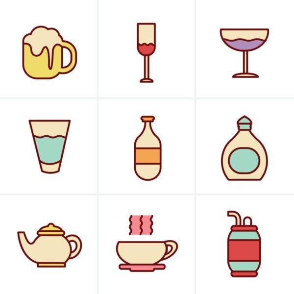 Mega Icons Bundle: 2000 icons - 19970780 icons style beverage icons