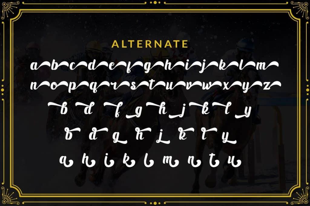 Black Ryder - Bold Script Font - $3 - 8 min