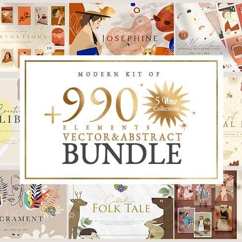 Author - 990 Vector Abstract Bundle thumbnail 01
