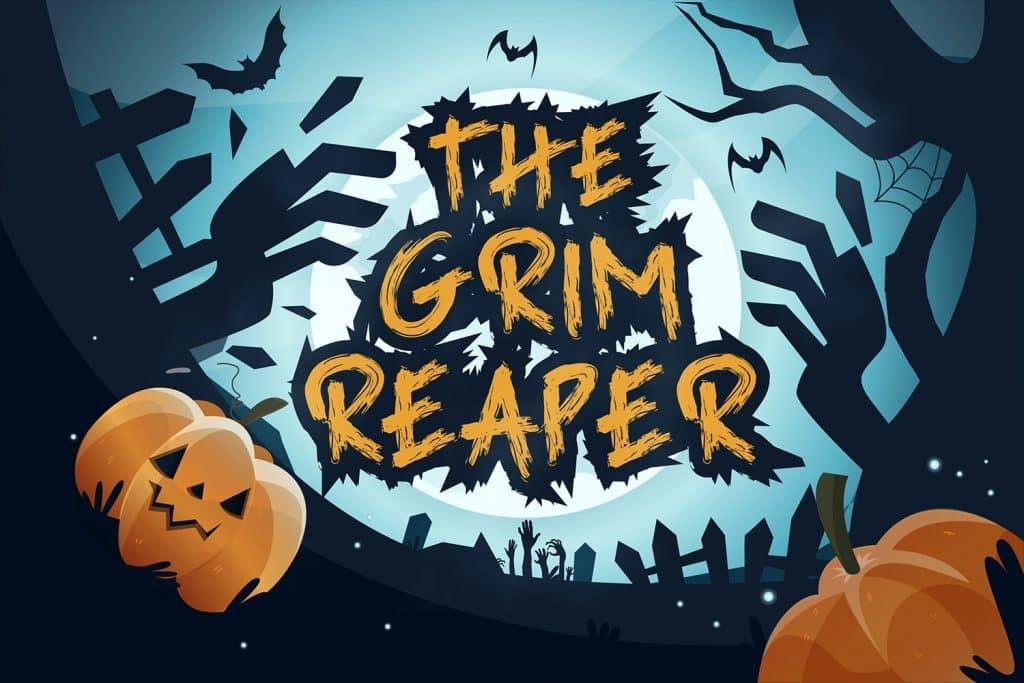 Grim Reaper - Horror Font $12 - Grim1 min