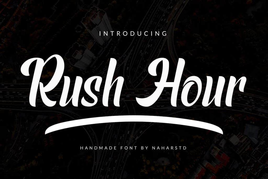 Rush Hour - Modern BoldFont - $3 - Preview1 2