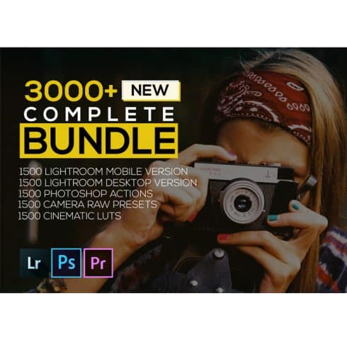 7500 New Complete Bundle Presets Lightroom, Photoshop Actions and Cinematic LUTs - Untitled 1 490x490