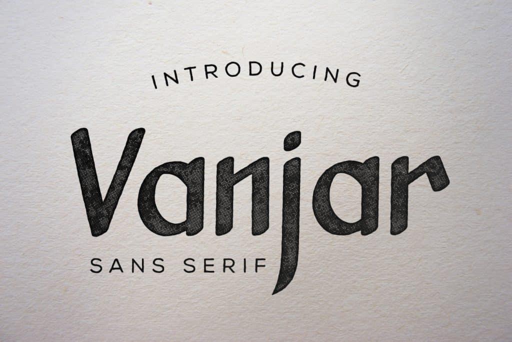 Vanjar Sans Serif Clean Font - Vanjar1 1024x683