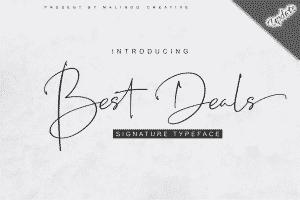 Best Deals | Signature Typeface - View1 300x200
