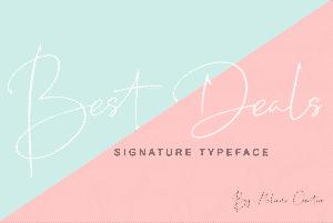 Best Deals | Signature Typeface - View12 300x201