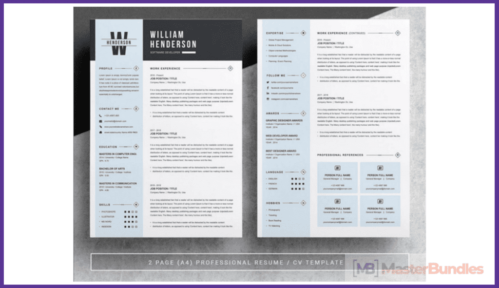 44+ Best Computer Science Resume Templates: Free and Premium - best computer science resume templates 16