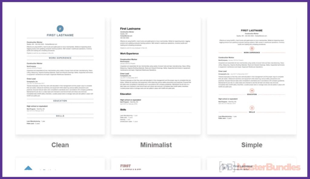 50+ Best Free Resume Templates in 2020 - best free resume 2020 07