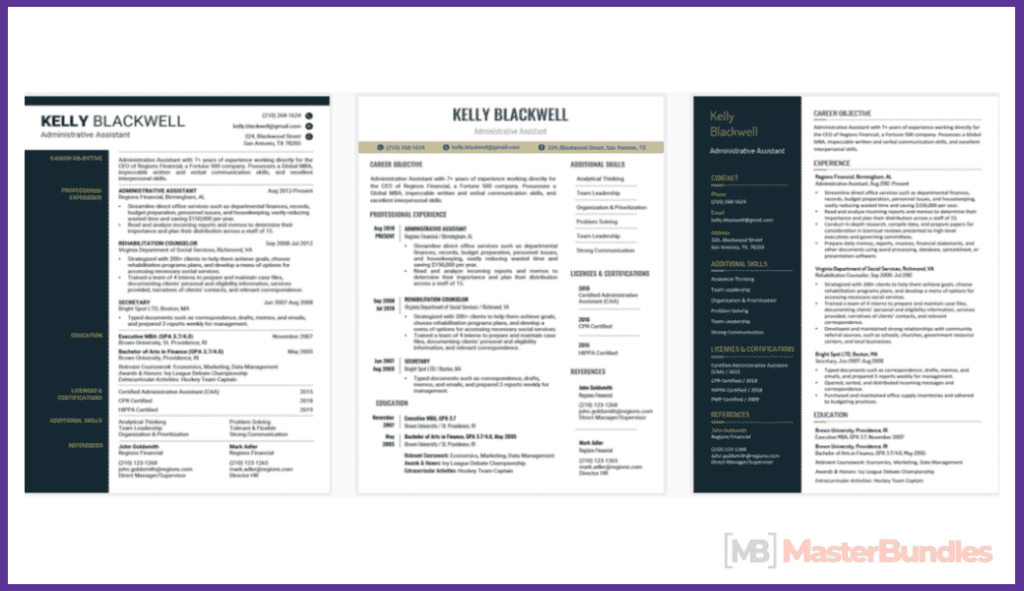 50+ Best Free Resume Templates in 2020 - best free resume 2020 15