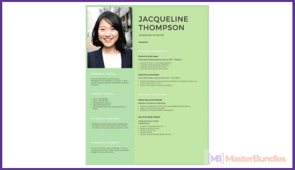 50+ Best Free Resume Templates in 2020 - best free resume 2020 16