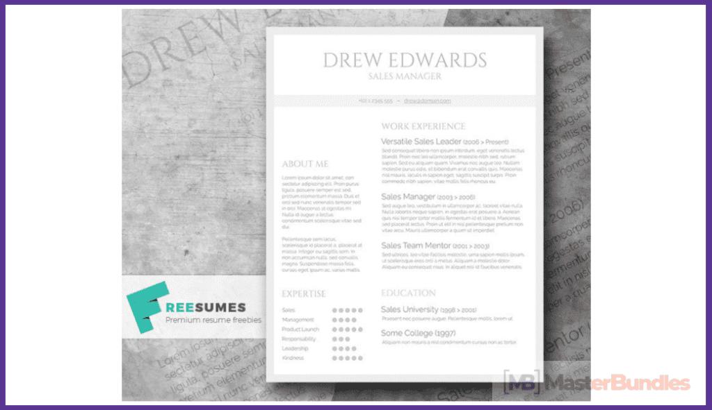 50+ Best Free Resume Templates in 2020 - best free resume 2020 19