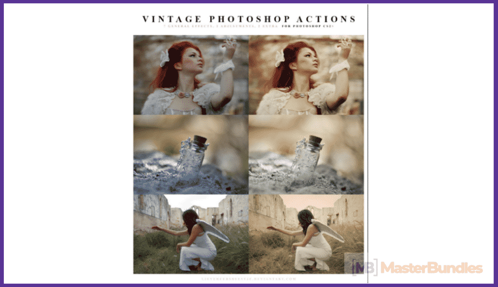 65+ Best Vintage Photoshop Actions 2020. Free and Premium - best photoshop actions 2020 01