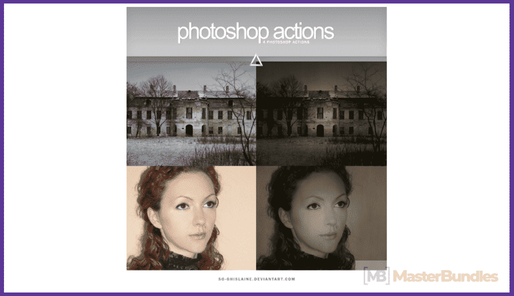 65+ Best Vintage Photoshop Actions 2020. Free and Premium - best photoshop actions 2020 04