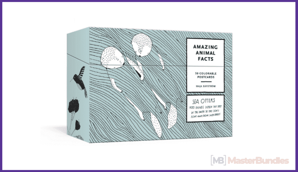 Amazing Animal Facts Postcards: 50 Colorable Postcards.