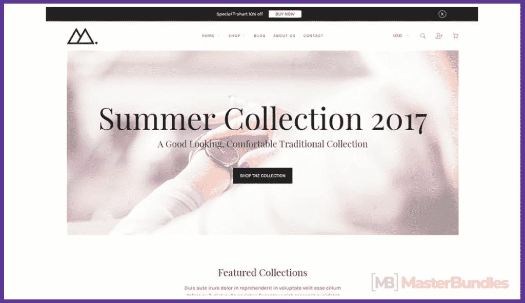Mira - Minimalist eCommerce Shopify