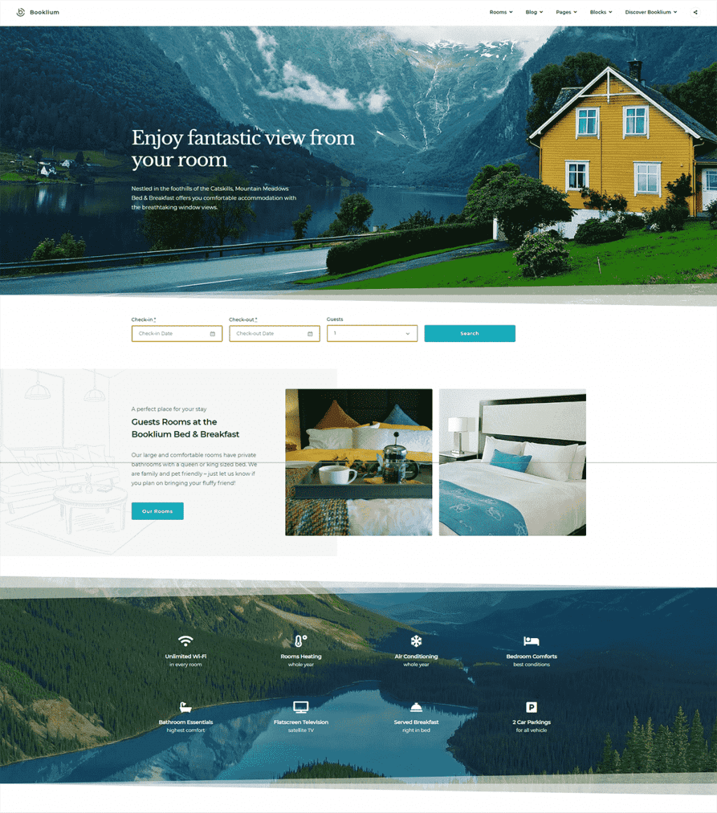 30+ WordPress Gutenberg Themes 2020 - booklium rental wordpress theme min
