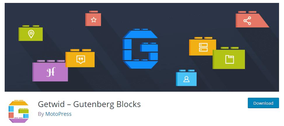30+ WordPress Gutenberg Themes 2020 - getwid gutenberg blocks min