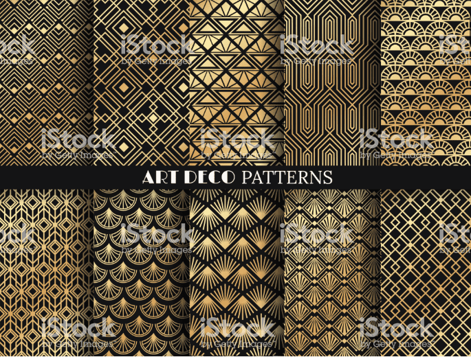 Best Examples Art Deco Graphic Design: Fonts, Posters, Logos, Patterns - image11