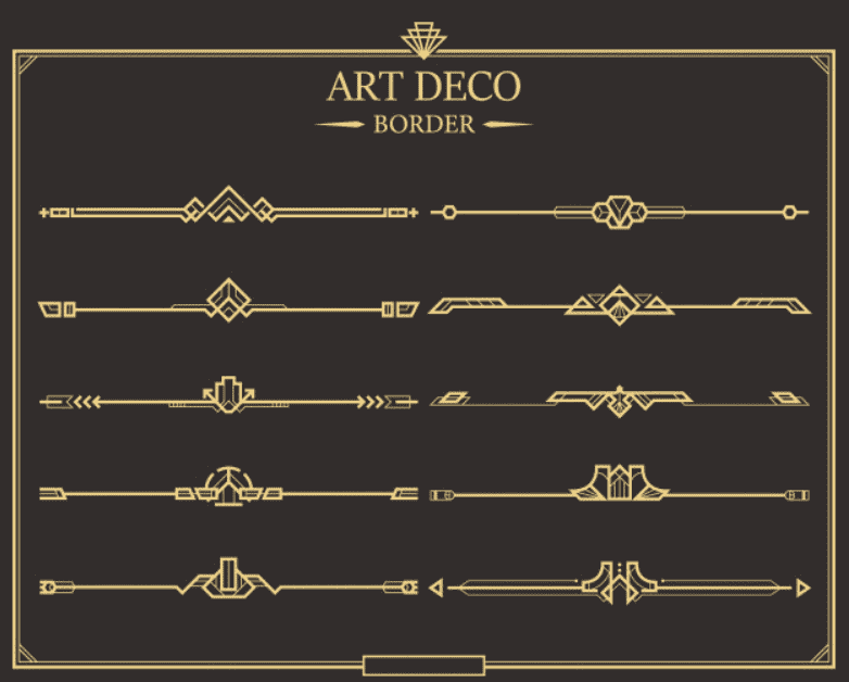Best Examples Art Deco Graphic Design: Fonts, Posters, Logos, Patterns - image18