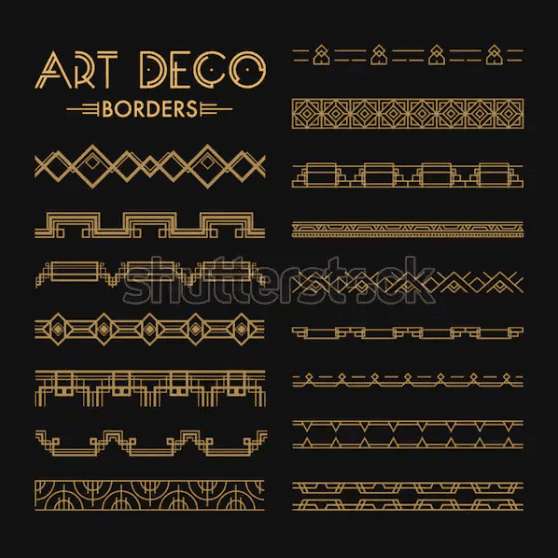 Best Examples Art Deco Graphic Design: Fonts, Posters, Logos, Patterns - image45