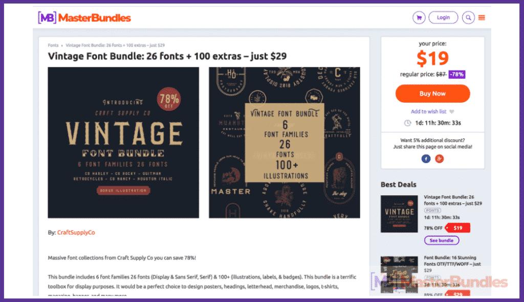 MasterBundles Product Page 2018.