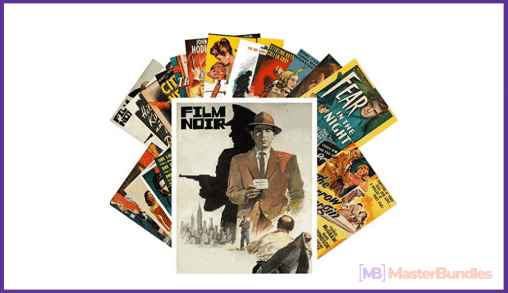 Postcard Set 24 cards Film Noir Vintage Movie Poster Hardboiled Detective.