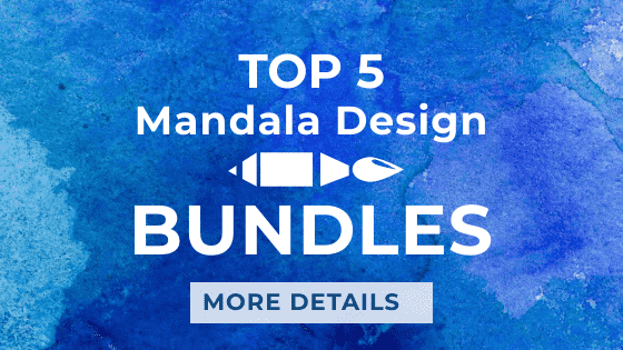 Mandala Coloring PostCard - top 5 mandala design bundles