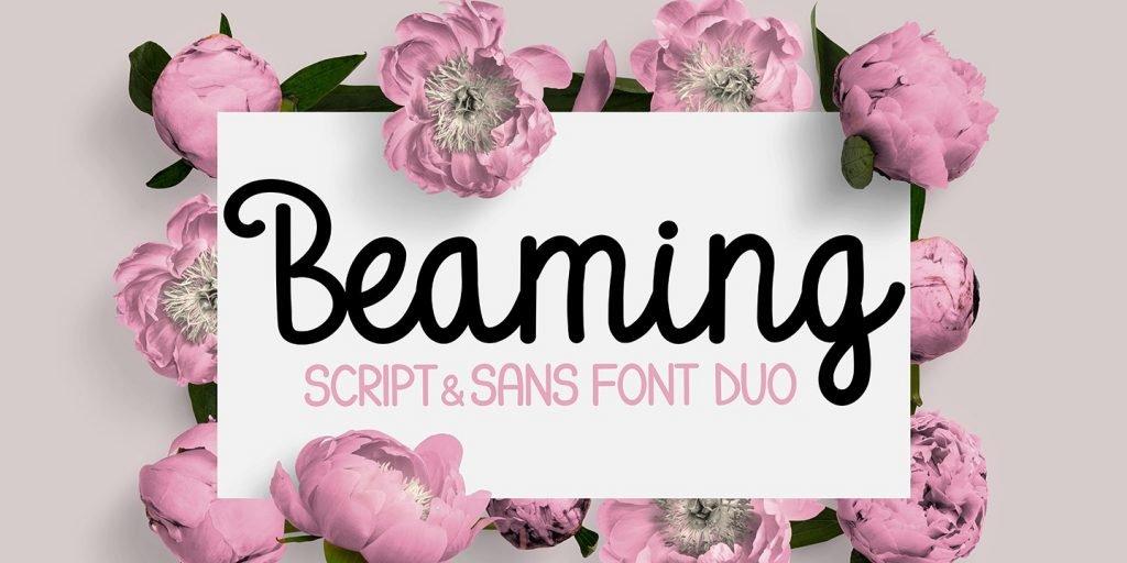 Beaming - A Script & Sans Font Duo - 1 Title Image