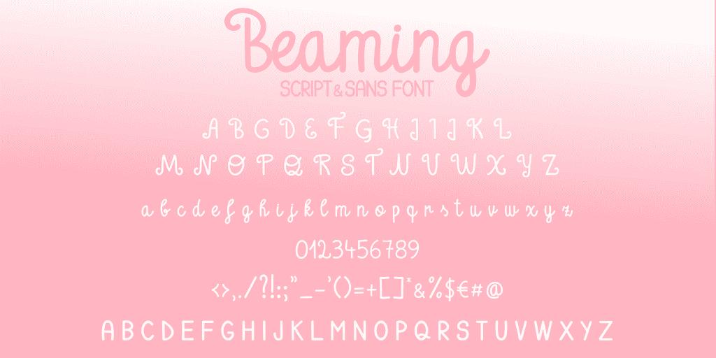 Beaming - A Script & Sans Font Duo - 2