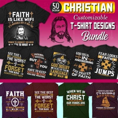 50 editable Christian T-shirt Design Bundle - MB 1 1 490x490