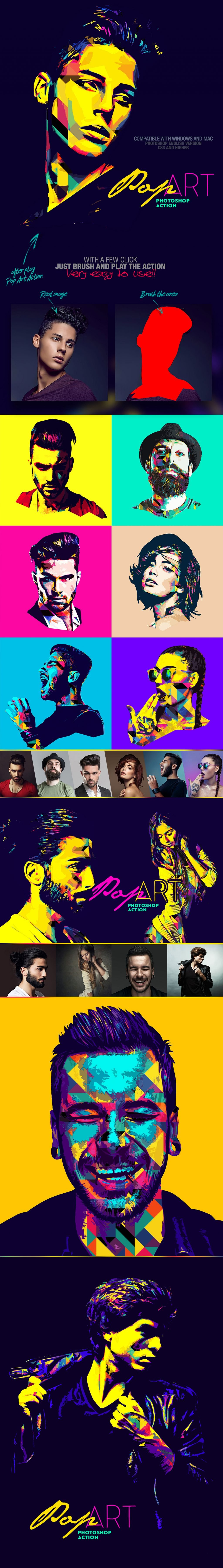 Photoshop Actions & Templates: Artistic Photo FX Bundle - Pop Art Photoshop Action design by AMORJESU