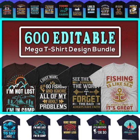 100 Editable T-shirt Designs - $39