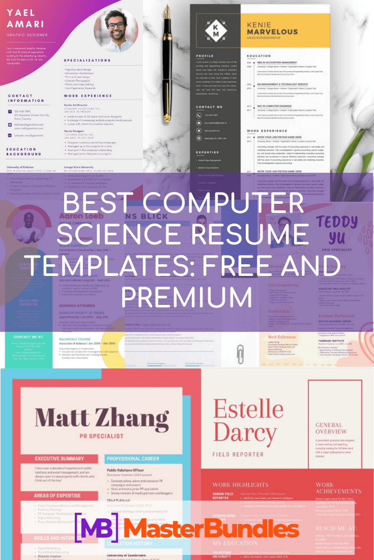 44+ Best Computer Science Resume Templates: Free and Premium - best computer sciene resume pinterest