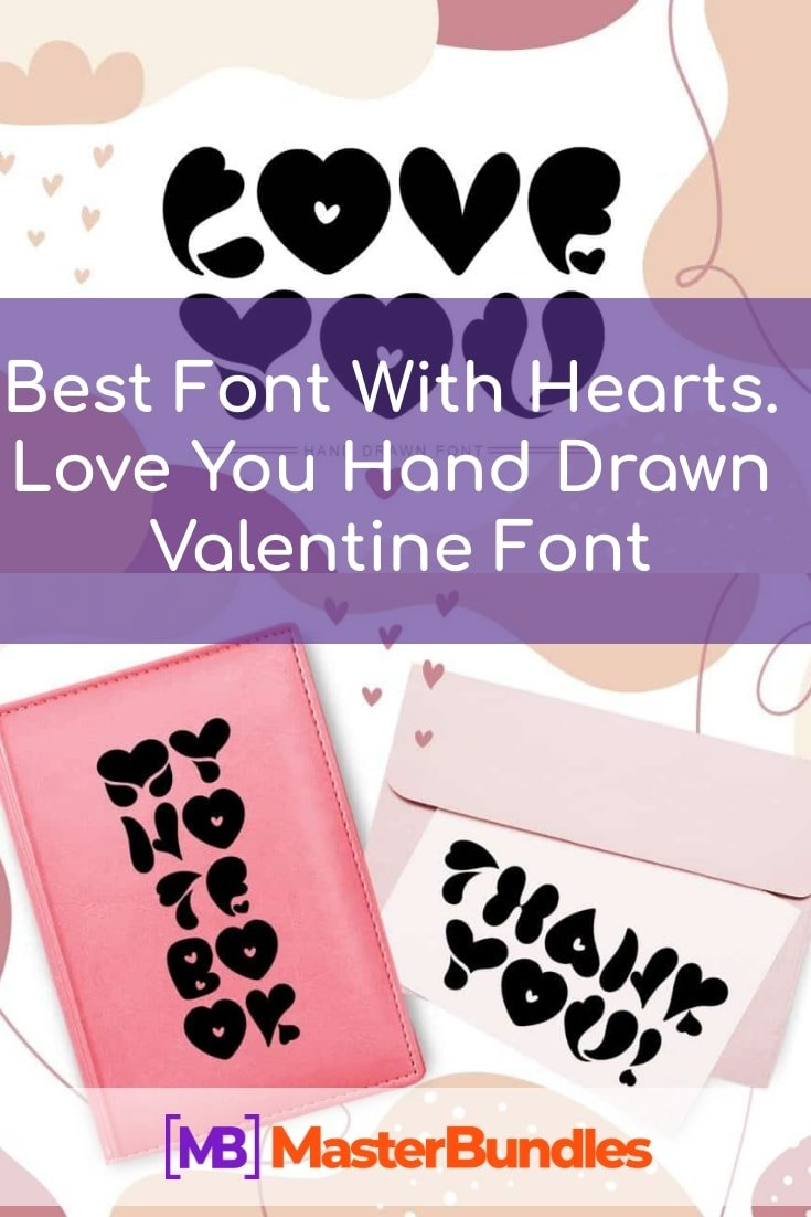 Best Font With Hearts. Love You Hand Drawn Valentine Font - $10 - best font with hearts pinterest