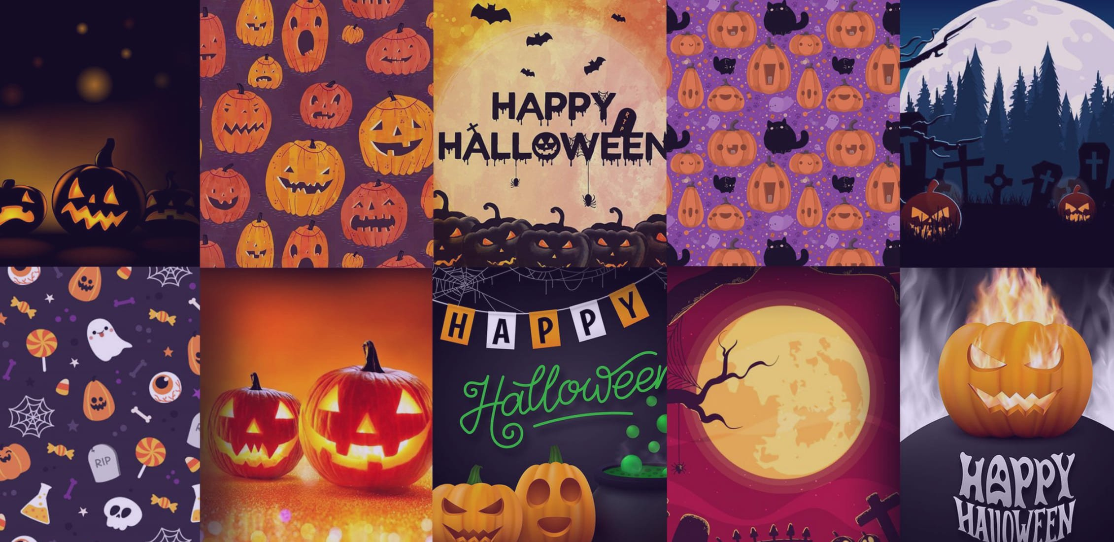 Some examples of cool Halloween backgrounds.