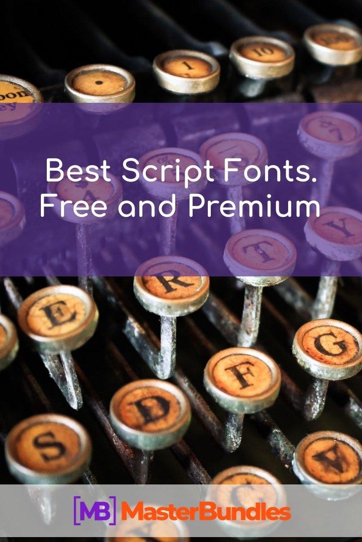 Best Script Fonts. Pinterest Image.