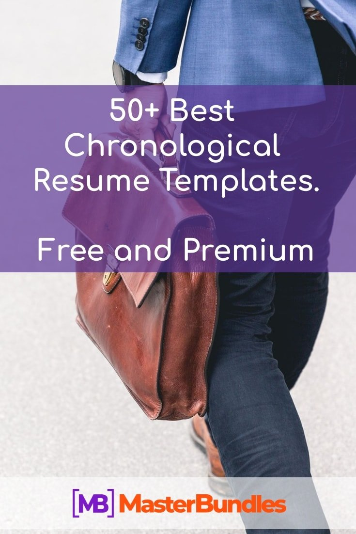 50+ Best Chronological Resume Templates in 2020: Free and Premium - chronological resume templatees pinterest